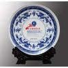 纪念品设计定做厂家,景德镇陶瓷瓷盘,青花瓷赏盘