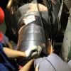 现场修复带给客户的是一种神奇的体验 辊压机轴在线修复