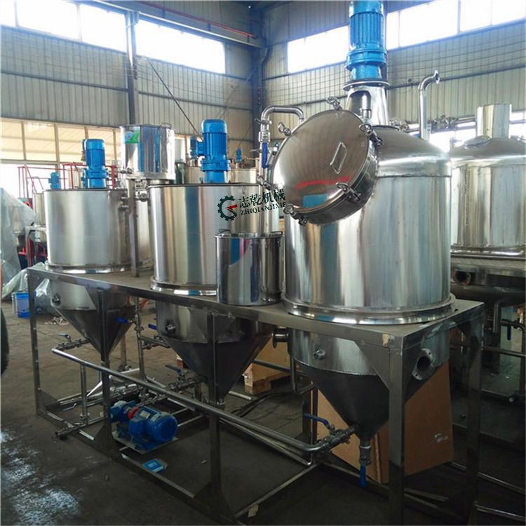 瓶装山茶油生产设备 食用油精炼设备 茶籽油脱酸 脱蜡 脱臭